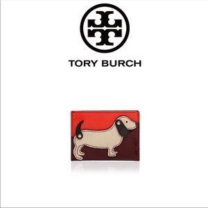 Tory Burch Dachshund Slim Card Case